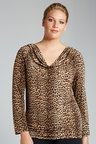 Plus Size - Sara Knit Drape Top