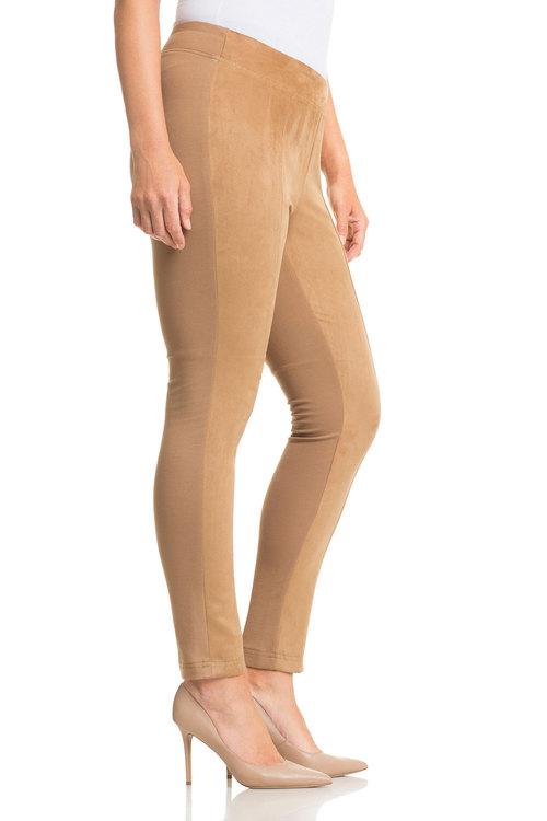Plus Size - Sara Faux Suede Front Pant