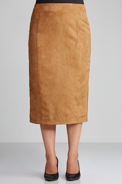 Sara Faux Suede Front Skirt