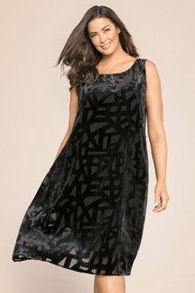 Plus Size - Sara Burnout Swing Dress