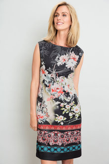 Capture Floral Border Dress