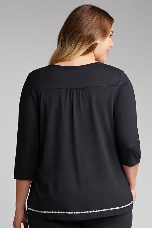 Plus Size - Sara Embroidered Tee