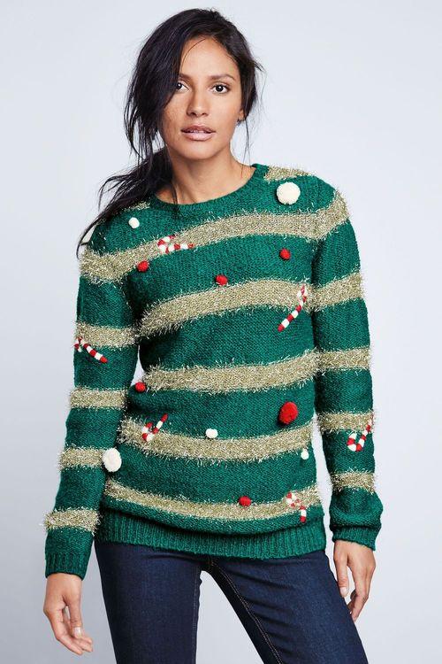 Next Fun Christmas Tree Sweater - Petite