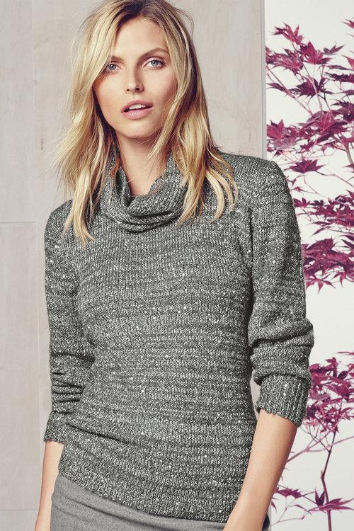Next Grey Boucle Sweater