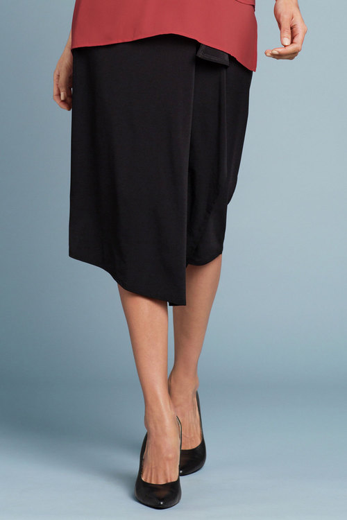 Grace Hill Drape Knit Skirt