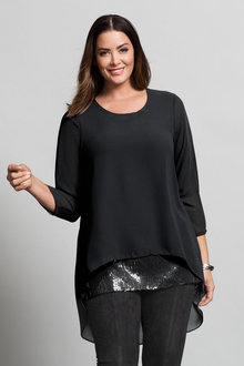 Sara Sequin Top