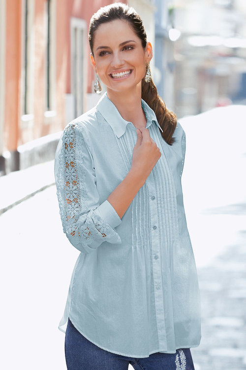 Together Lace Sleeve Shirt
