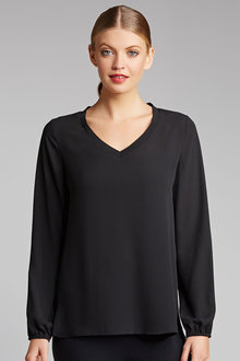 Capture V Neck Longline Shell Top