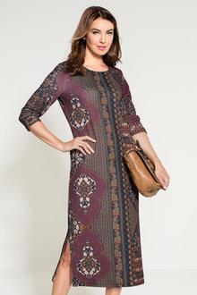 Grace Hill Winter Knit Midi Dress - 153214