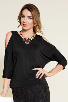 Grace Hill Cut Out Knit Top