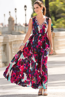 Together Embellished Print Maxi