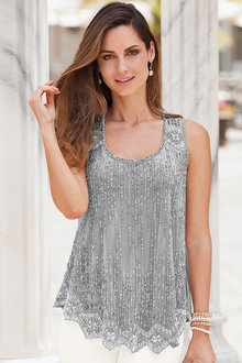 Together Sequinned Swing Top