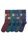 Next Five Pack Argyle Pattern Socks