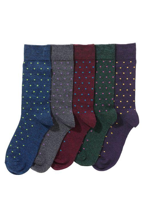 Next Multi Small Spot Socks Five Pack