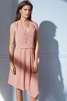 Next Peach Drape Dress - Petite