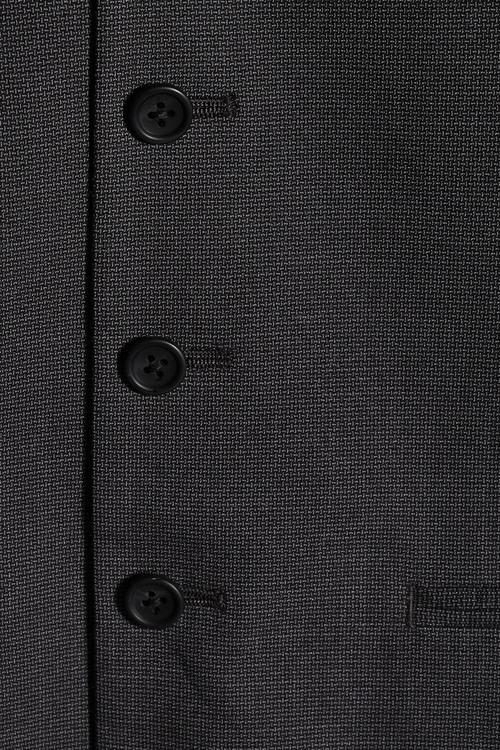 Next Charcoal Textured Suit: Waistcoat