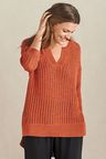 Next Orange Notch Neck Sweater