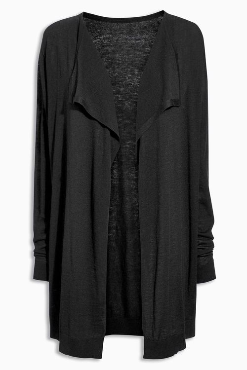 Next Merino Wool Blend Waterfall Cardigan - Tall Online | Shop EziBuy