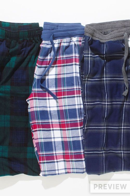Next Blue/Pink Woven Check Bottoms