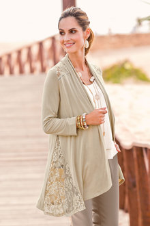 Together Lace Detail Cardigan