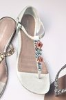 Next White Flower Jewel Sandals