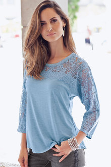 Together Lace Yoke Top