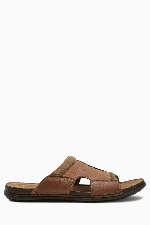 Next Brown Leather Mule