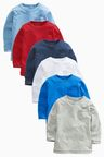 Next Multi Long Sleeve Essential Tops Six Pack (3mths-6yrs)
