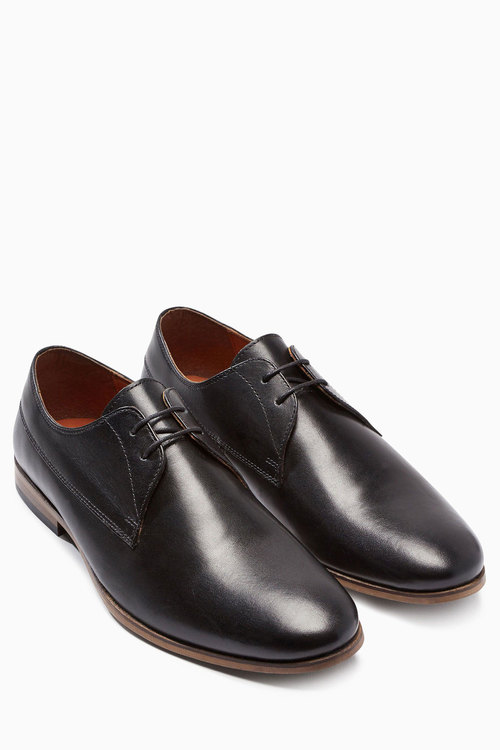 Next Leather Contrast Sole Derby