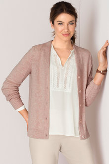 Grace Hill Cashmere Blend Classic Cardigan
