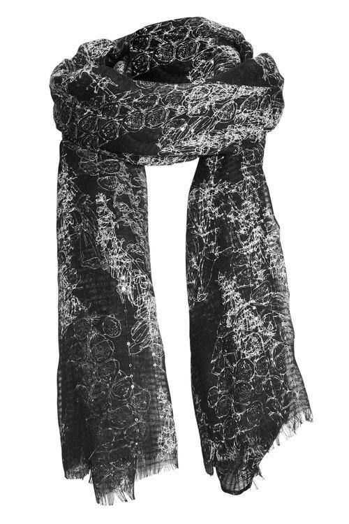 Next Foxglove Print Sequin Scarf