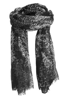 Next Foxglove Print Sequin Scarf - 156844