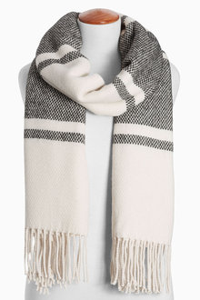 Next Monochrome Stripe Scarf