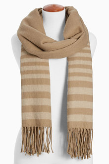 Next Tan Stripe Scarf