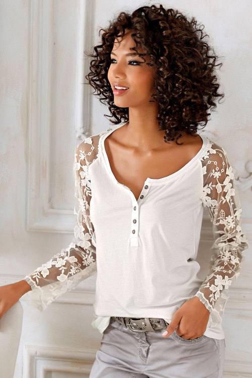 Heine Lace Sleeved Top