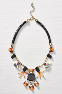 Next Orange/Black Jewelled Statement Necklace