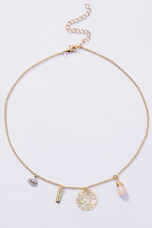 Next Gold Tone Charm Necklace