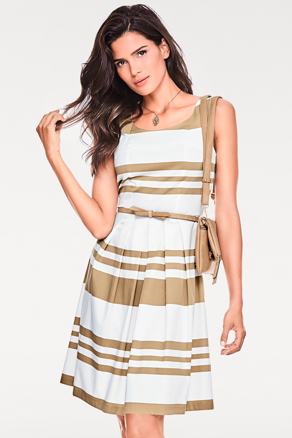c482cf5410 Heine Striped Fit and Flare Dress Online