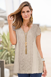Together Crinkle Lace Top