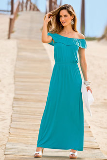 Together Frill Neck Maxi Dress