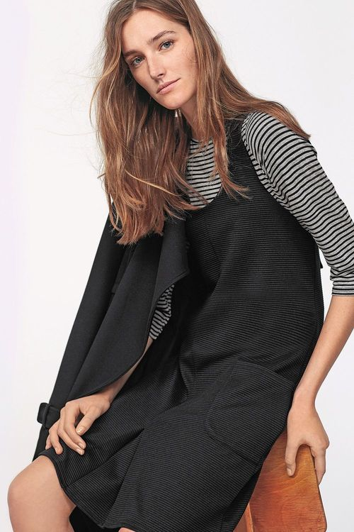 Next Black Two Piece Pinafore Dress