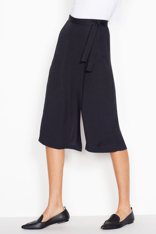 Next Black Wrap Culottes