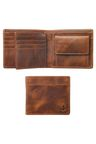 Next Tan Leather Two Fold Wallet