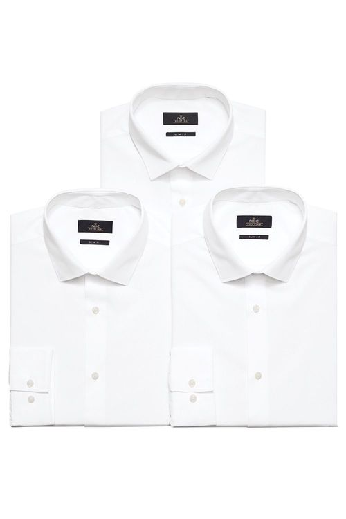 Next Three Pack Plain Shirts