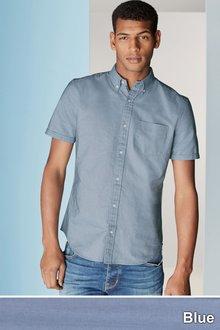 Next Short Sleeve Oxford Shirt - 157499