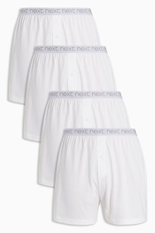 Next White Loose Fit Four Pack