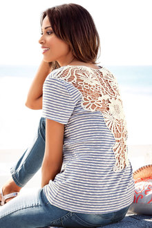 Heine Lace Back Top