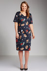 Plus Size - Sara Floral Sateen Dress