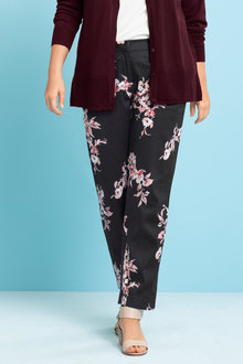 Plus Size - Sara Cotton Sateen Stretch Pant