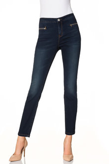 Emerge High Waisted Zip Jean